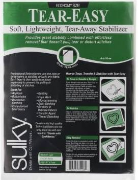751-03 Sulky Stabilizer Light Weight Tear Easy 20 wide by 3 yrds White