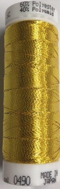 7633-0490 Mettler 60% Polyester 40% Polyomid Metallic Embroidery Thread 110 yards