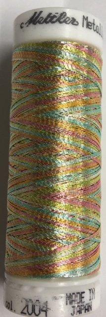 7633-2004 Mettler 60% Polyester 40% Polyomid Metallic Variegated Embroidery Thread 110 yards