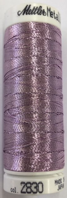 7633-2830 Mettler 60% Polyester 40% Polyomid Metallic Embroidery Thread 110 yards