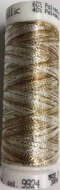 7633-9924 Mettler 60% Polyester 40% Polyomid Metallic Variegated Embroidery Thread 110 yards