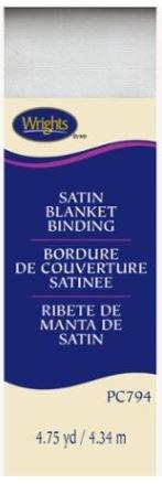 794-30 Wrights Satin Blanket Binding White