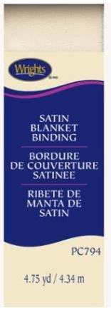 794-810 Wright Satin Blanket Binding Ivory