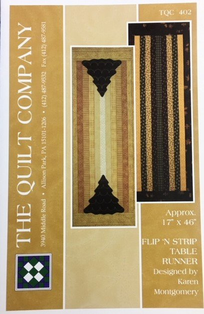 TQC402, The Quilt Company Flip'n Strip Table Runner by Karen Montgomery