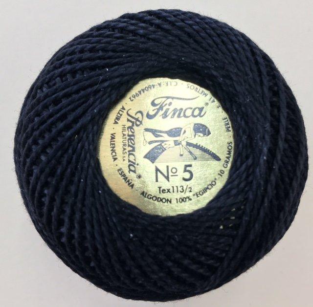 816-05-0007 Presencia NGRO Black Finca Perle Cotton Size 5 10 gram ball