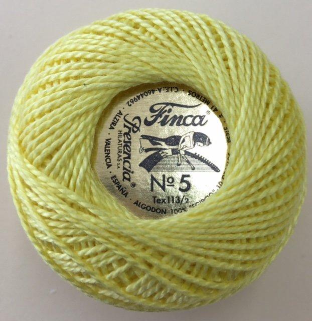816-05-1220 Presencia Lemon Finca Perle Cotton Size 5 10 gram ball