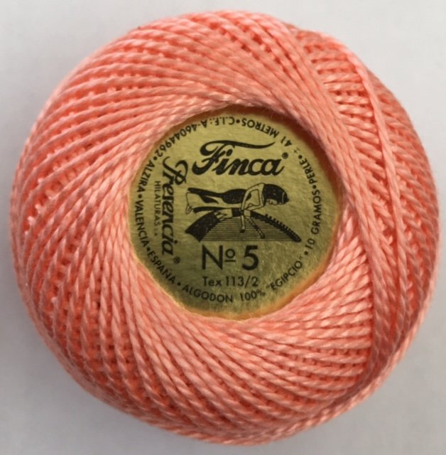 816-05-1307 Presencia Light Apricot Finca Perle Cotton Size 5 10 gram ball