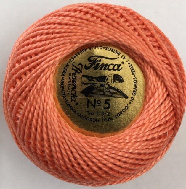 816-05-1314 Presenica Apricot Finca Perle Cotton Size 5 10 gram ball
