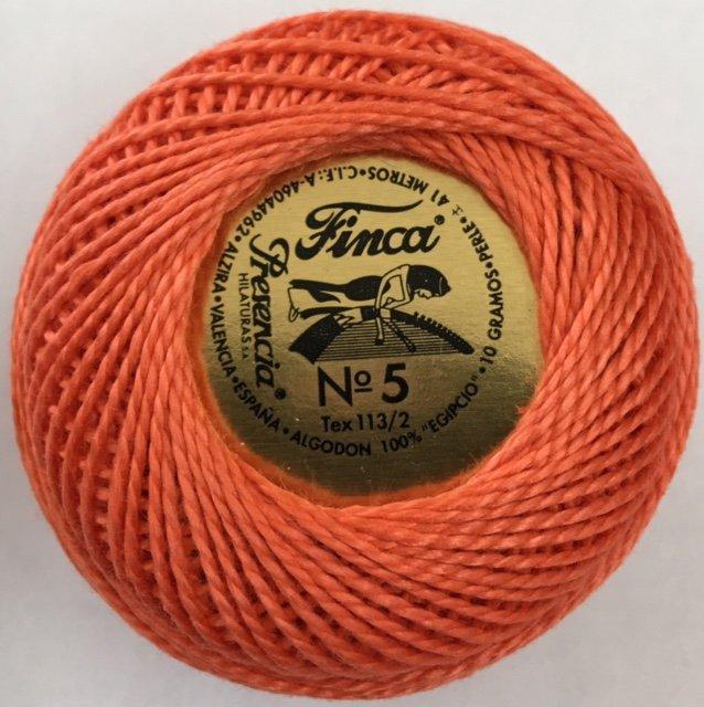 816-05-1325 Presencia Medium Apricot Finca Perle Cotton Size 5 10 gram ball