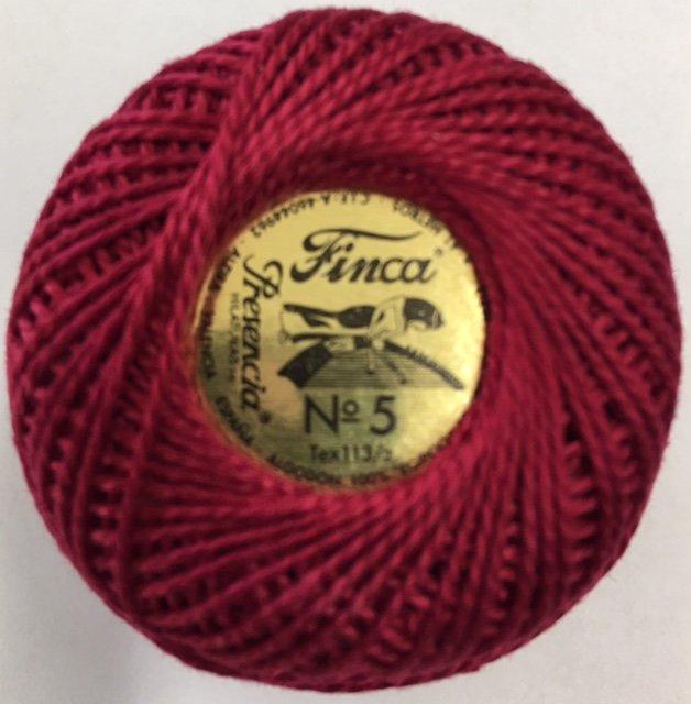 816-05-1667 Presencia Very Dark Rose Finca Perle Cotton Size 5 10 gram ball