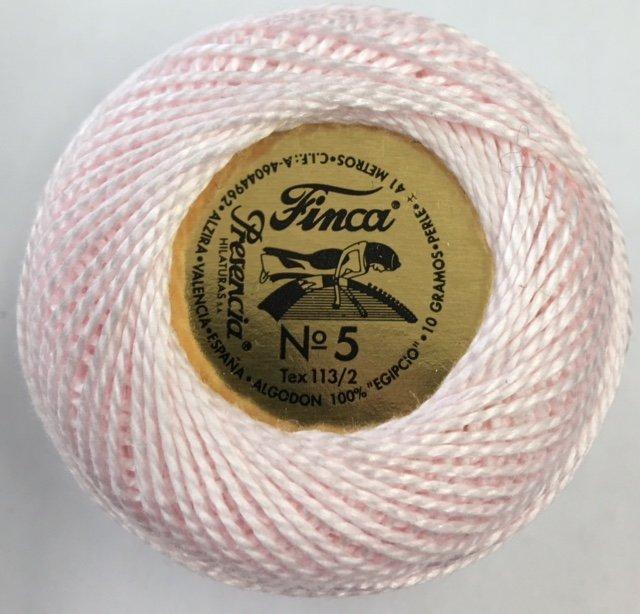 816-05-1721 Presencia. Baby Pink Finca Perle Cotton Size 5 10 gram ball