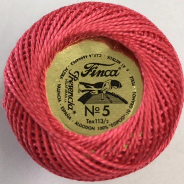 816-05-1895 Presencia Dark Melon Finca Perle Cotton Size 5 10 gram ball