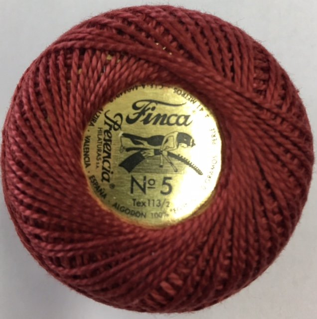816-05-1996 Presencia Dark Antique Rose Finca Perle Cotton Size 5 10 gram ball
