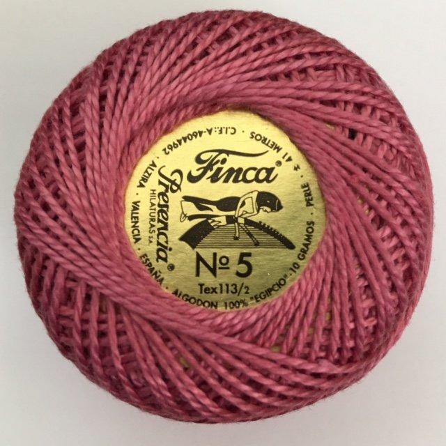 816-05-2240 Presencia Dark Mauve Finca Perle Cotton Size 5 10 gram ball