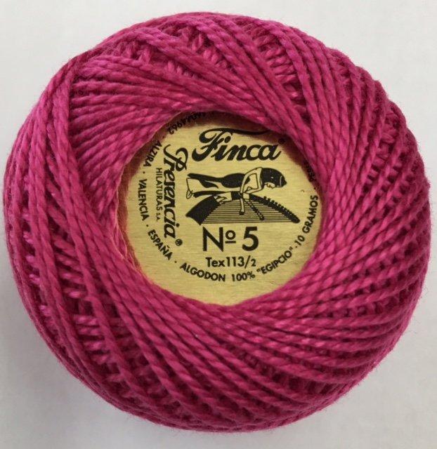 816-05-2333 Presencia Dark Clycamen Pink Finca Perle Cotton Size 5 10 gram ball