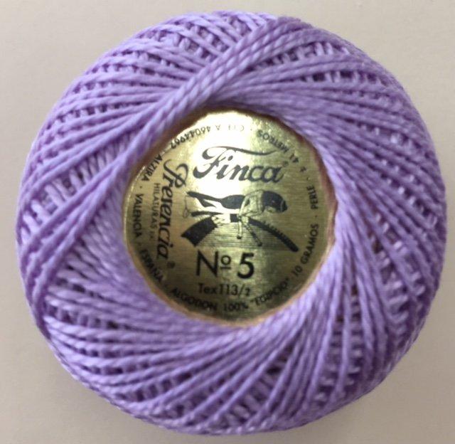 816-05-2606 Presenica Light Violet Finca Perle Cotton Size 5 10 gram ball