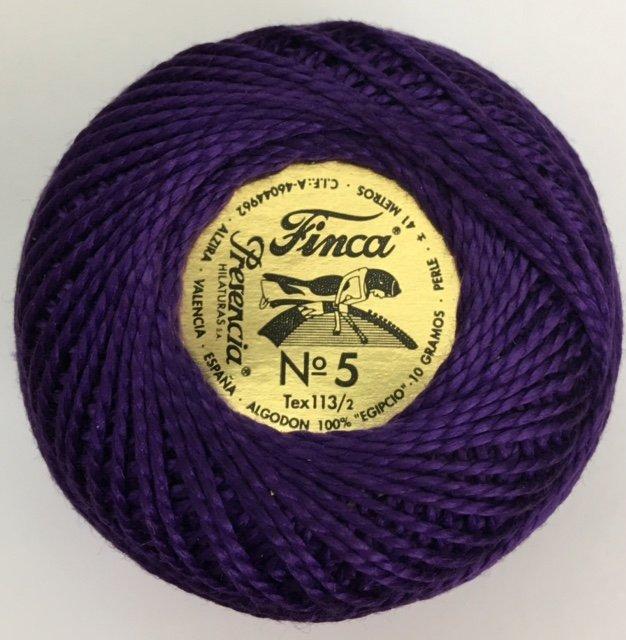 816-05-2720 Presencia Very Dark Lavender Finca Perle Cotton Size 5 10 gram ball