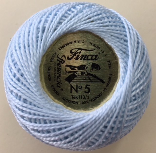 816-05-3299 Presencia Very Light Blue Finca Perle Cotton Size 5 10 gram ball