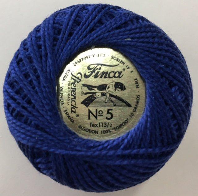 816-05-3324 Presencia Navy Blue Finca Perle Cotton Size 5 10 gram ball