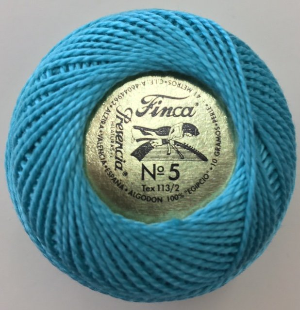 816-05-4059 Presencia Medium Seagreen Finca Perle Cotton Size 5 10 gram ball