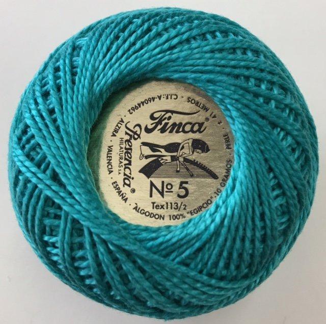 816-05-4074 Presencia Dark Seagreen Finca Perle Cotton Size 5 10 gram ball