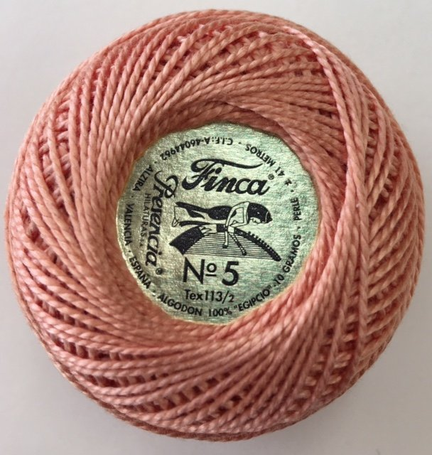 816-05-7636 Presencia Light Orange Spice Finca Perle Cotton Size 5 10 gram ball