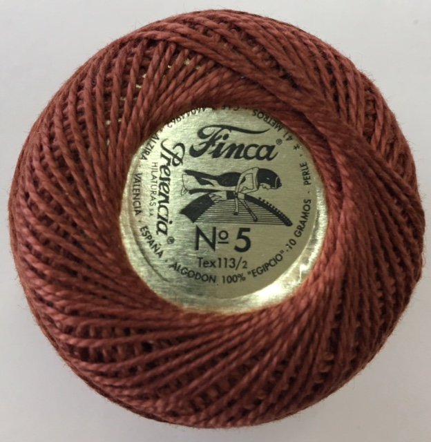 816-05-7656 Presencia Dark Mahogany Finca Perle Cotton Size 5 10 gram ball