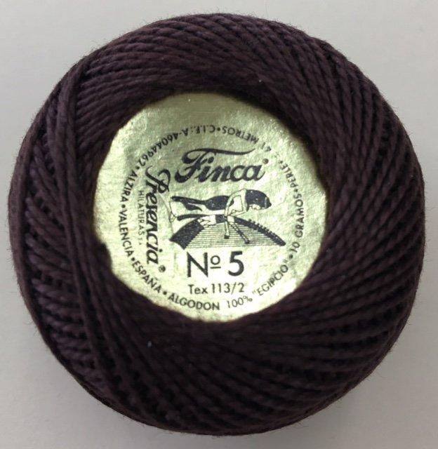 816-05-8083 Presencia Dark Coffee Bean Finca Perle Cotton Size 5 10 gram ball