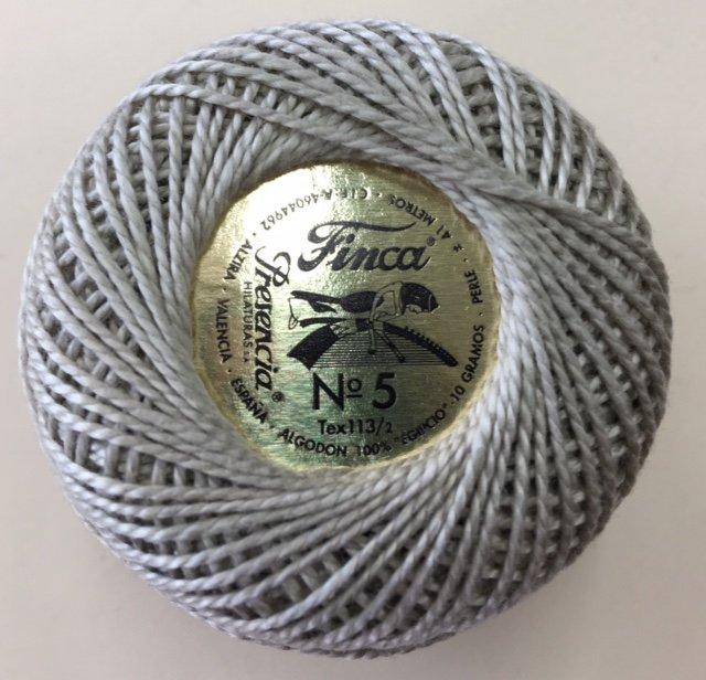 816-05-8310 Presencia Light Drab Green Brown Finca Perle Cotton Size 5 10 gram ball