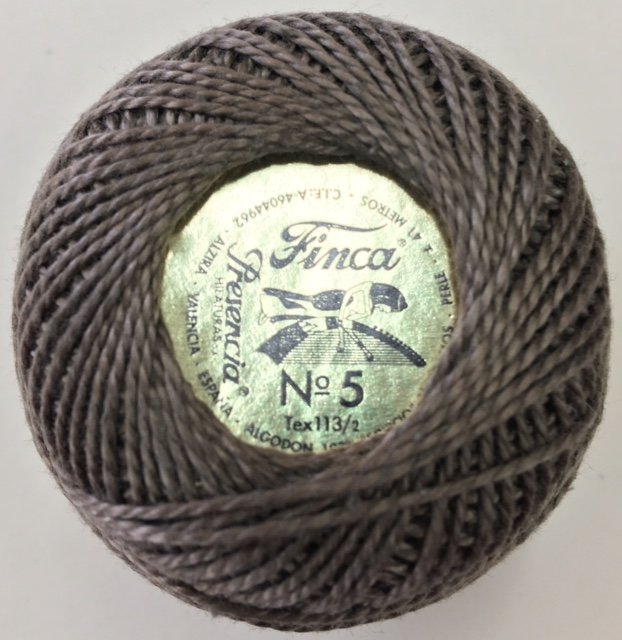 816-05-8327 Dark Drab Green Brown Finca Perle Cotton Size 5 10 gram ball