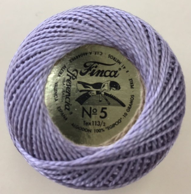 816-05-8605 Presencia Light Antique Violet Finca Perle Cotton Size 5 10 gram ball