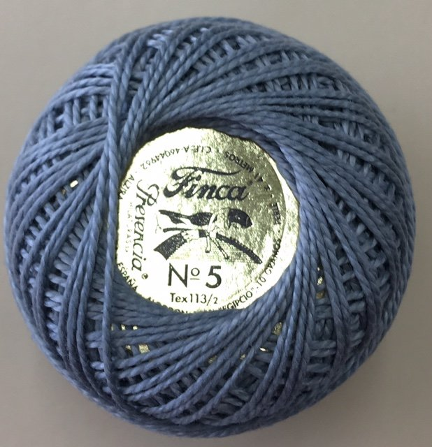 816-05-8773 Presencia Light Pewter Finca Perle Cotton Size 5 10 gram ball