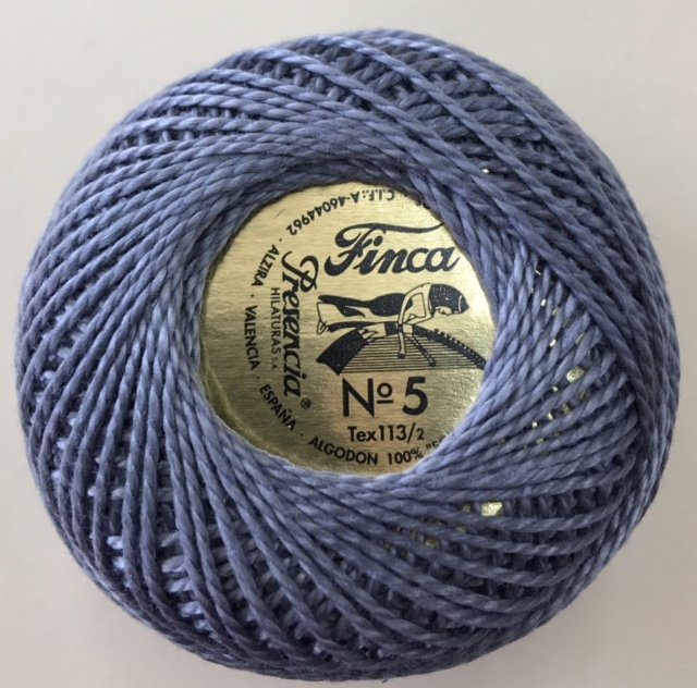 816-05-8779 Presencia Dark Pewter Finca Perle Cotton Size 5 10 gram ball