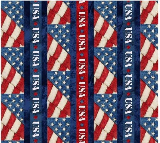8335-077 Blank Textiles American Honor USA Border Print
