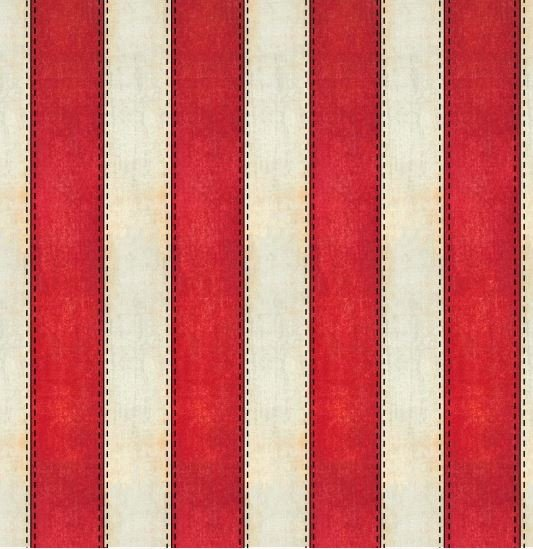 8338-088 Blank Textiles American Honor Ivory and Red Stripe 1 wide stripes