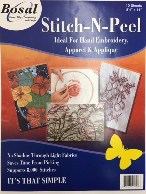 834875047236 Bosal Stitch-n-Peel 10 Sheets