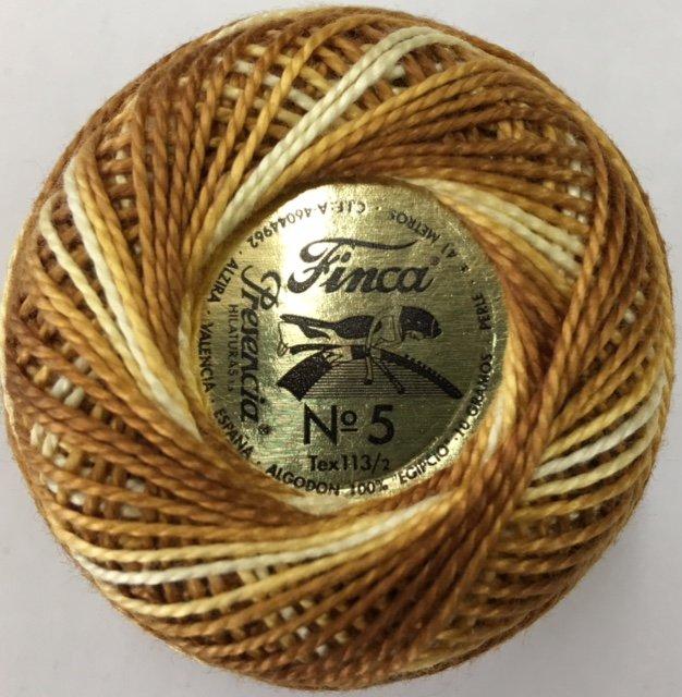 880-05-9920 Presencia Terrific Coffee Finca Perle Cotton Varigated Size 5 10 gram ball