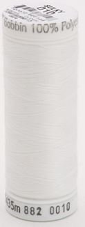 882-0010 Sulky Light Polyester Bobbin Thread 475 yards White