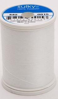882-0015 Sulky Light Polyester Bobbin Thread 1100 yards White