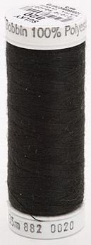 882-0020 Sulky Light Polyester Bobbin Thread 475 yards Black