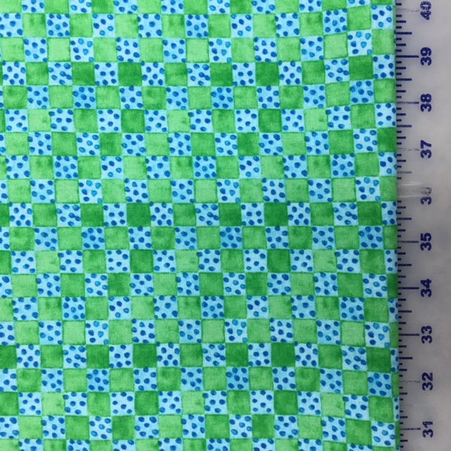 9048-66 Blank Toby Turtle Blue and Green Squares