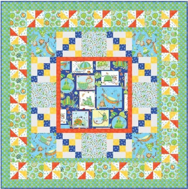 904KIT2  Toby the Turtle-Quilt 2 Blank Quilting Corp. 44 x 44
