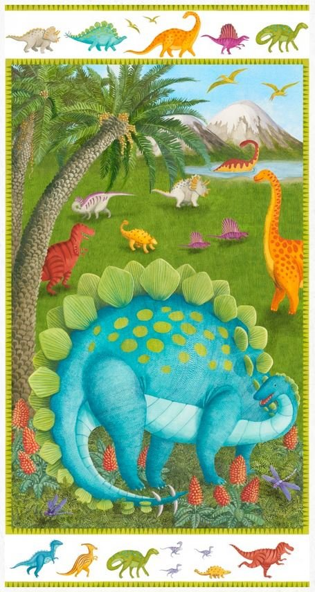 9050P-17 Blank Dino Party Panel 24 x WOF