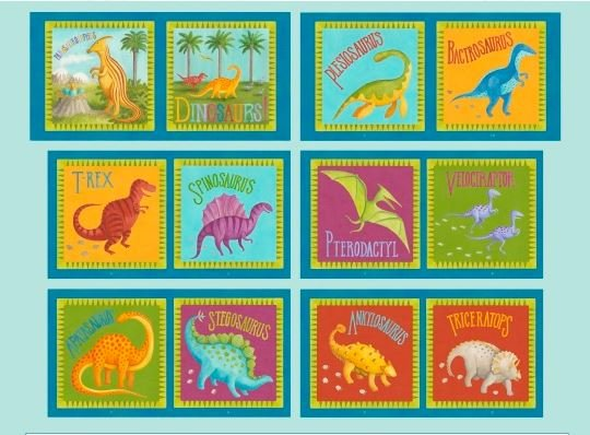 9058P-70, Blank, Dino Party, Soft Book Panel