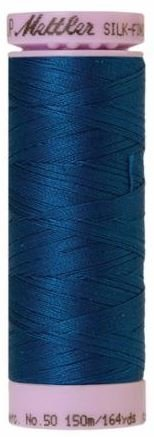 9105-0024 105-565 Mettler Silk Finished Cotton Thread 164 yards Colonial Blue