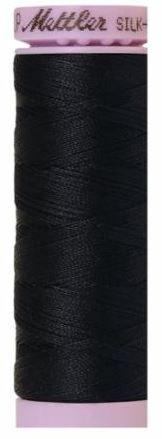 9105-0821 105-558 Mettler Silk Finished Cotton Thread 164 yards Darkest Blue