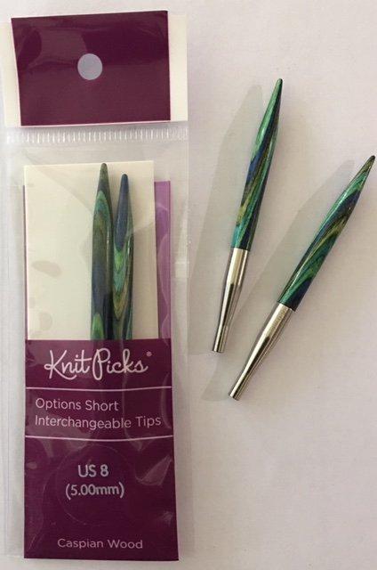 91205 Knit Picks Short Interchangable Needles US8