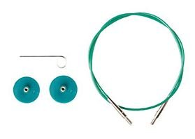 91208 Knit Picks Green Interchangable Cable Single 16 cable for short tip needles
