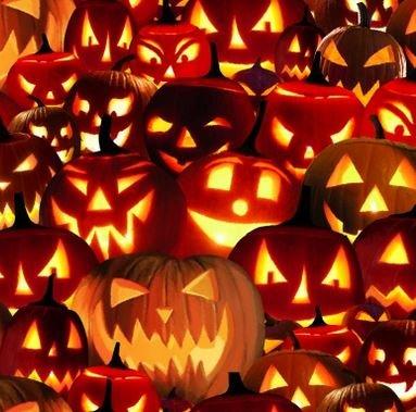 9171G-33 Blank Textiles Fright Night Glow in the Dark Pumpkins