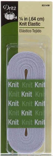 9314W Dritz Knit Elastic 1/4 3 yards